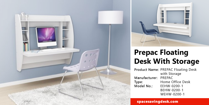 Gentil Prepac Floating Desk With Storage Review