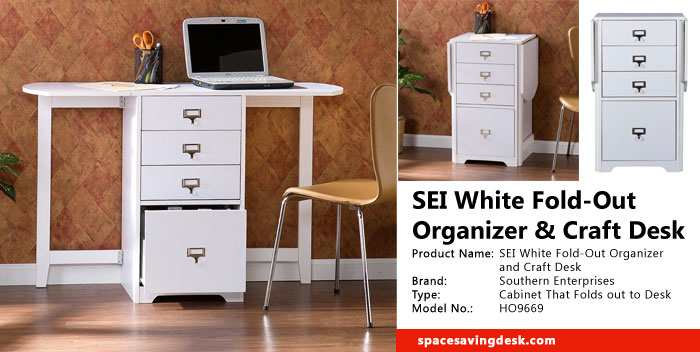Sei white fold out organizer and craft desk review space for Fold up craft table