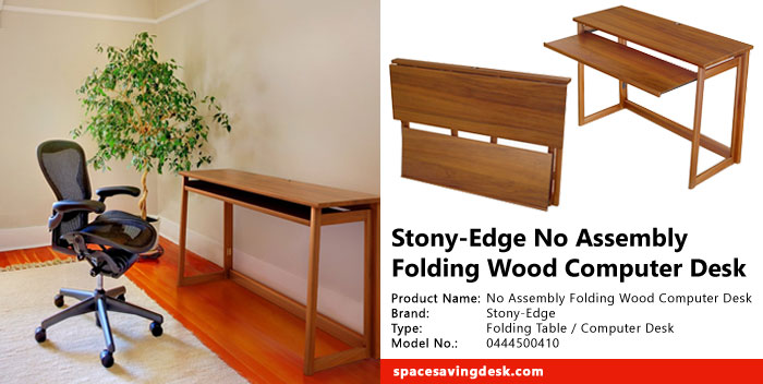Stony Edge No Assembly Folding Wood Computer Desk Review