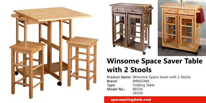Winsome Space Saver Table With 2 Stools Review Space
