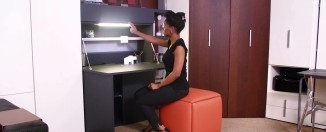 Home Resource Furniture Simple Home Office Basso Hidden Desk Behind Cabinet Video Reel. Inspiration