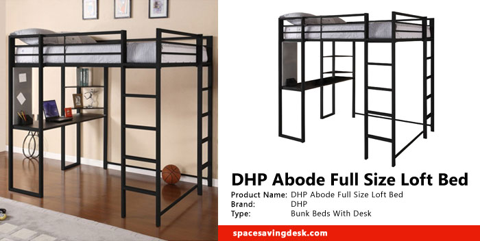 Dhp Abode Full Size Loft Bed Review Space Saving Desk