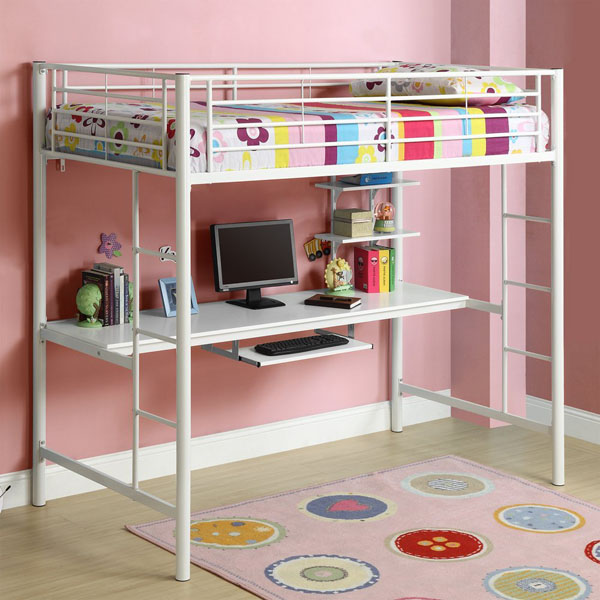 Walker Edison Metal Twin Loft Bed With Workstation Review