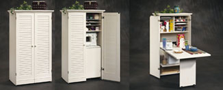 Sauder Harbor View Craft Armoire Review