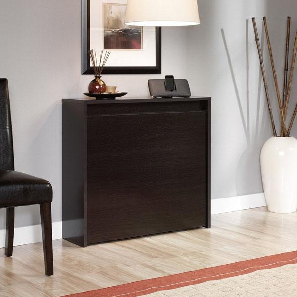 sauder fold-away table in wind oak review | space saving desk
