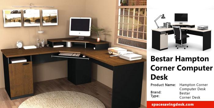 image corner computer. Bestar Hampton Corner Computer Desk Review Image