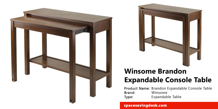 Winsome Brandon Expandable Console Table Review Space