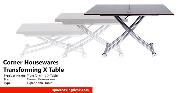 Corner Housewares Transforming X Table Review