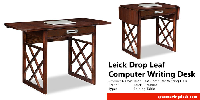 leick drop leaf computer writing desk review