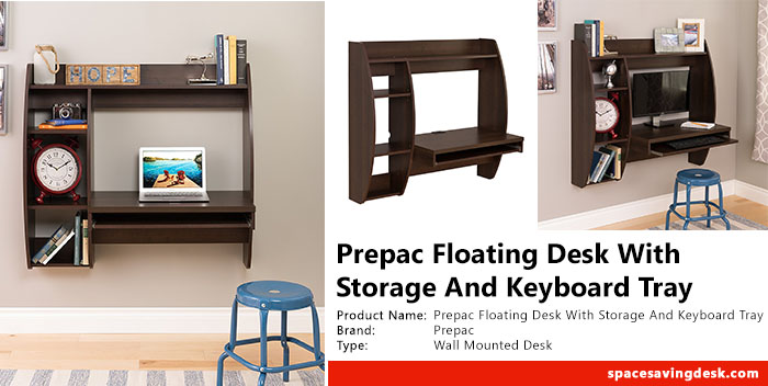 Prepac Floating Desk With Storage And Keyboard Tray In Expresso Review