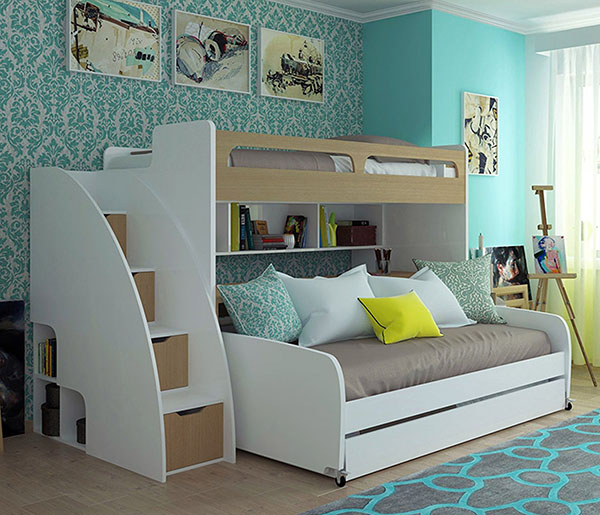 Multimo Bel Mondo Daybed With Loft Bed And Table And