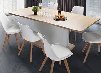 FurnitureR Extendable Rectangular Dining Table Review