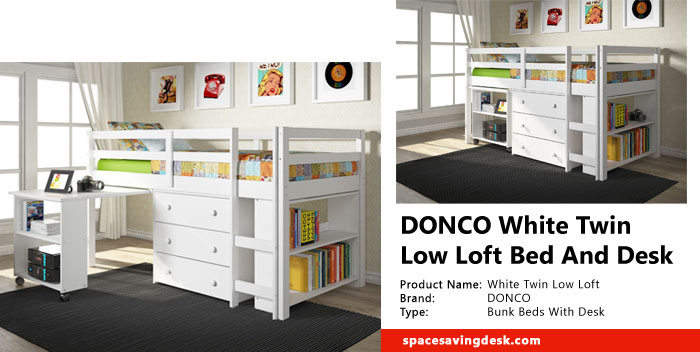 DONCO White Twin Low Loft Bed And Desk Review