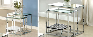 Furniture of America Gacelle Contemporary Glass Top Nesting Table Review