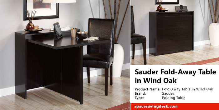 Sauder Fold-Away Table in Wind Oak Review