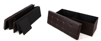 Cool Finds: Faux Leather Folding Storage Ottoman Bench by SONGMICS