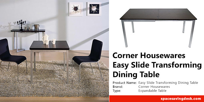 Corner Housewares Easy Slide Transforming Dining Table Review